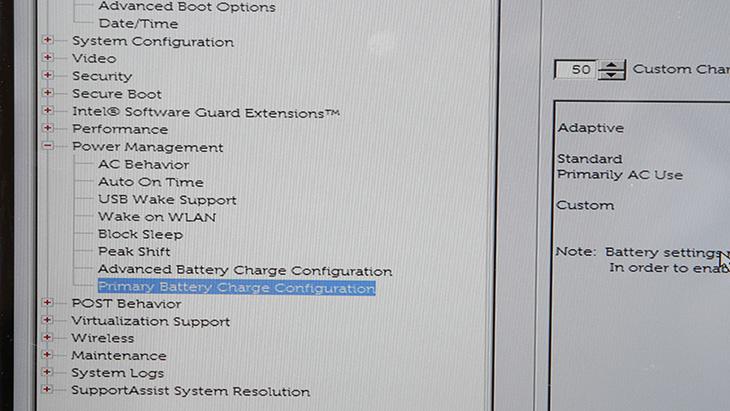 Dell ,XPS ,13 ,배터리, 80%, 충전 ,노트북 ,배터리 ,수명, 늘리기,Dell XPS 13 배터리,배터리 80%,델노트북,IT,IT 제품리뷰,노트북을 항상 전원을 연결해놓고 사용하는 분들이 있는데요. 저 또한 그러한데 그러면서 걱정인게 수명입니다. Dell XPS 13 배터리 80% 충전을 통해서 노트북 배터리 수명 늘리기를 해보려고 합니다. 기본적으로 몇가지 옵션이 있고 적용이 되어있는데 딱 상황에 맞게 설정하려면 변경을 해줘야 합니다. 다른 노트북은 설정이 좀 편한데 이 노트북은 직접 해줘야합니다. Dell XPS 13 배터리 80% 충전을 쉽게하기 위한 툴이 있는 줄 알았는데 그건 안보이네요. 노트북 배터리 수명 늘리기를 위해서는 옵션을 직접 수정해줘야 합니다.