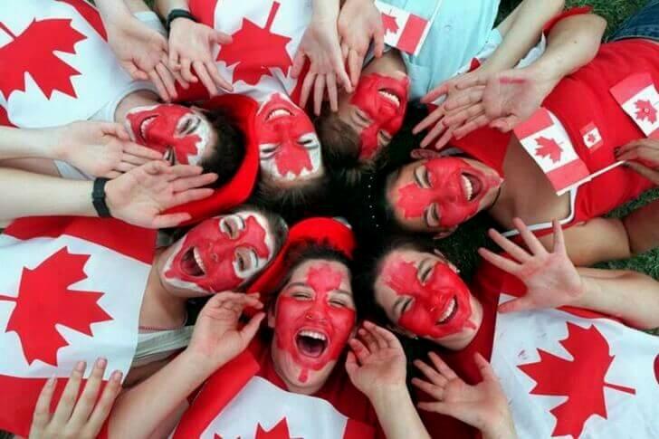 Canada Day 축제 모습입니다