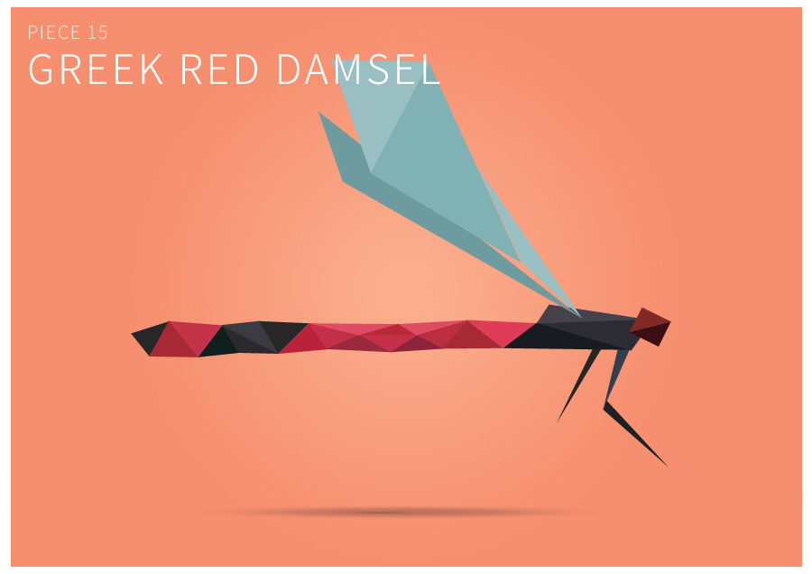 Piece 15 Greek red damsel