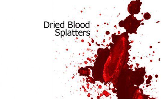 117 가지 피/혈흔(dried blood splatters) 포토샵 브러쉬 - 117 Free Dried Blood Splatters Photoshop Brushes