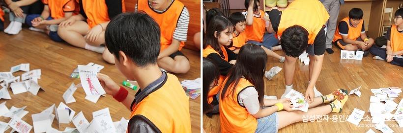 모은 동전으로 그림을 구매하는 아이들