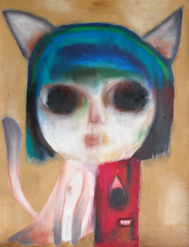 지루한 여행 _ conte and acrylic on cloth _ 126×90 _ 006 (Sold Out)