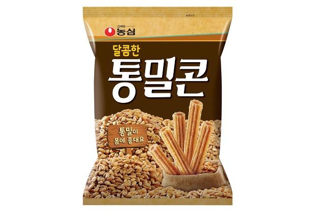 농심, 두번째 달콤한 스낵 '통밀콘' 출시