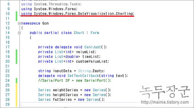 시샵 C# using 네임스페이스 자동으로 추가하는 방법