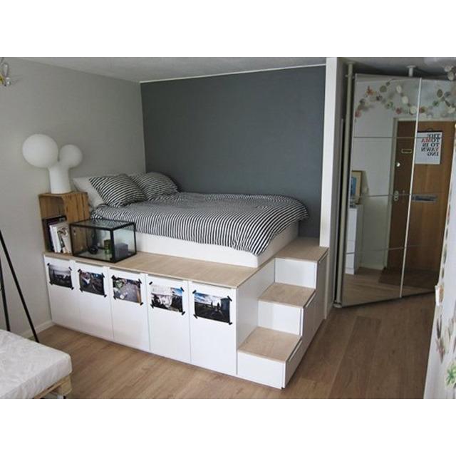 Ikea diy 6 home - Bed na capitonne zwarte ...