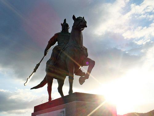 광개토대왕 동상