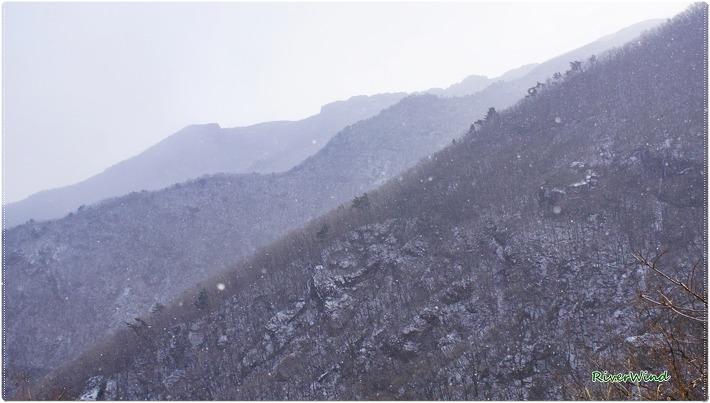 눈 오는 신불산