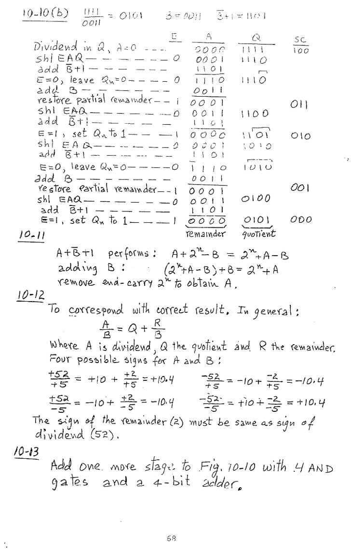 컴퓨터구조 연습문제, 모리스 마노 챕터10 68