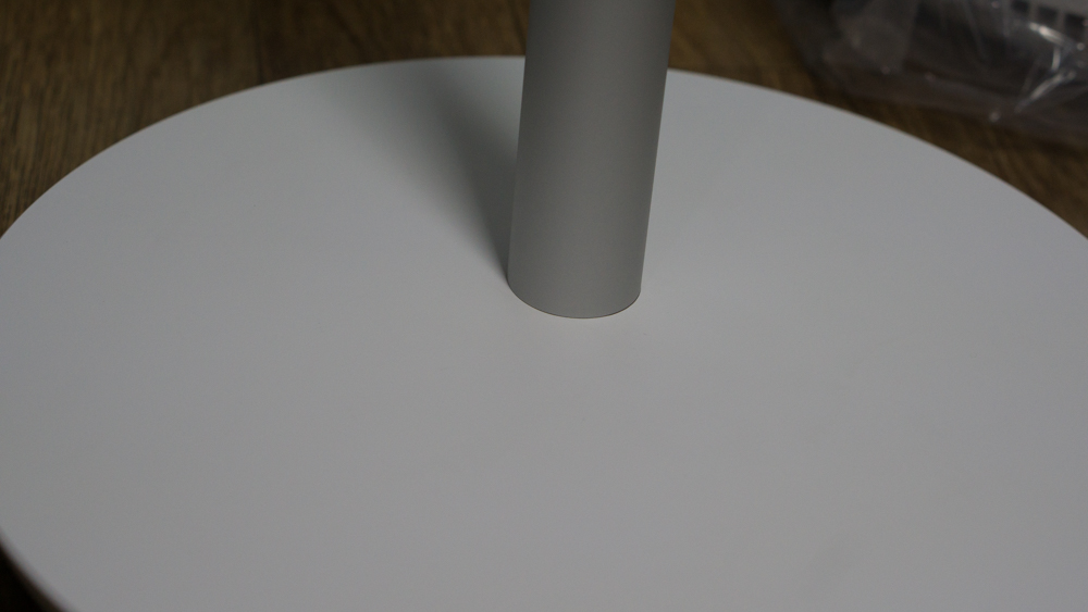 샤오미 스마트 선풍기 밑판과 봉 결합