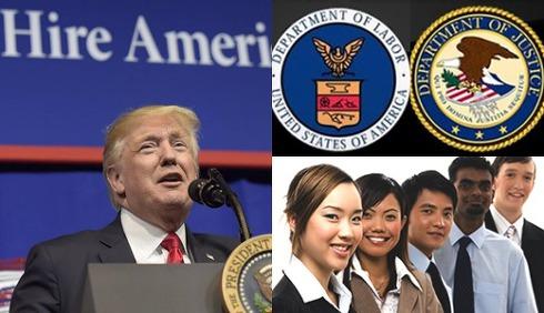 트럼프 '외국인 고용위해 미국인 차별 집중 단속한다'