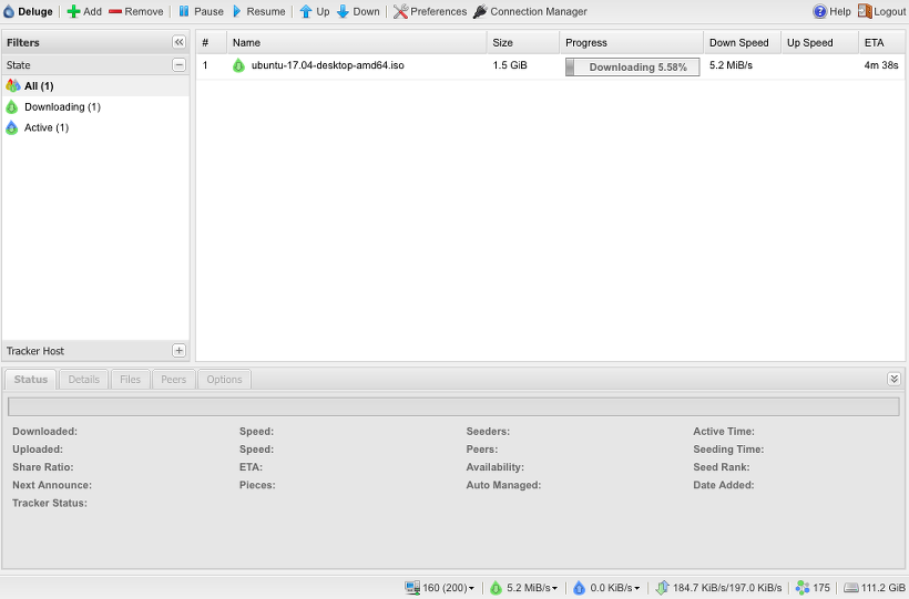 라즈베리파이 Openmediavault 토렌트 파일 다운로드 방법