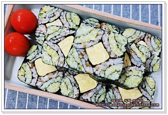 여름철 나들이 도시락엔 알록달록 문전김밥