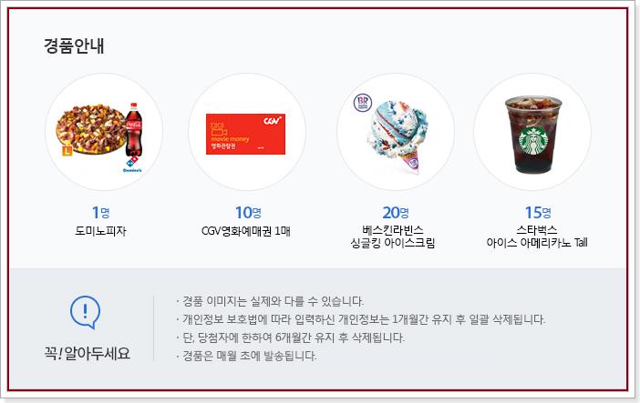 221회 정책브리핑 정책퀴즈 경품안내