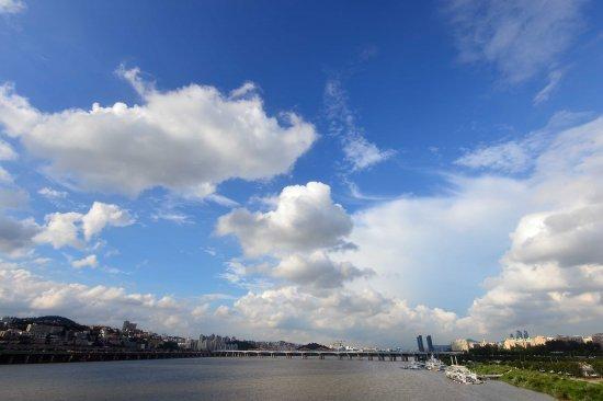 비온뒤의 파란하늘