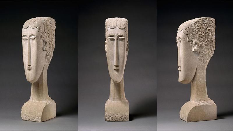 사진: 모딜리아니의 조각 작품