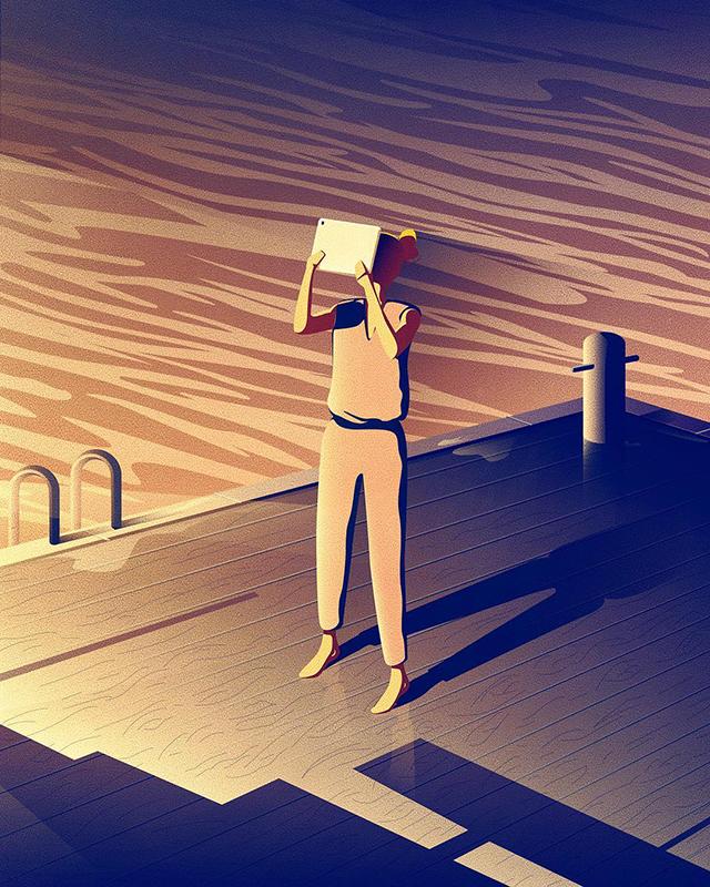 자신만의 느낌을 살리는 독일 일러스트 작가 Jan Siemen 인스타그램