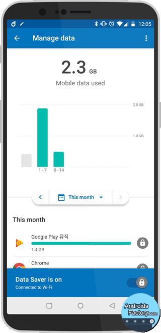 데이터 많이 쓰는 앱 찾기