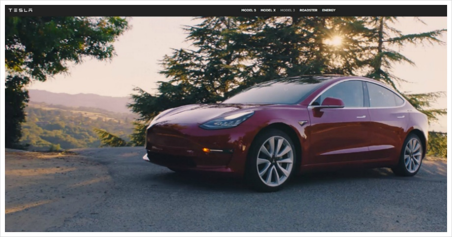 Tesla Homepage Capture