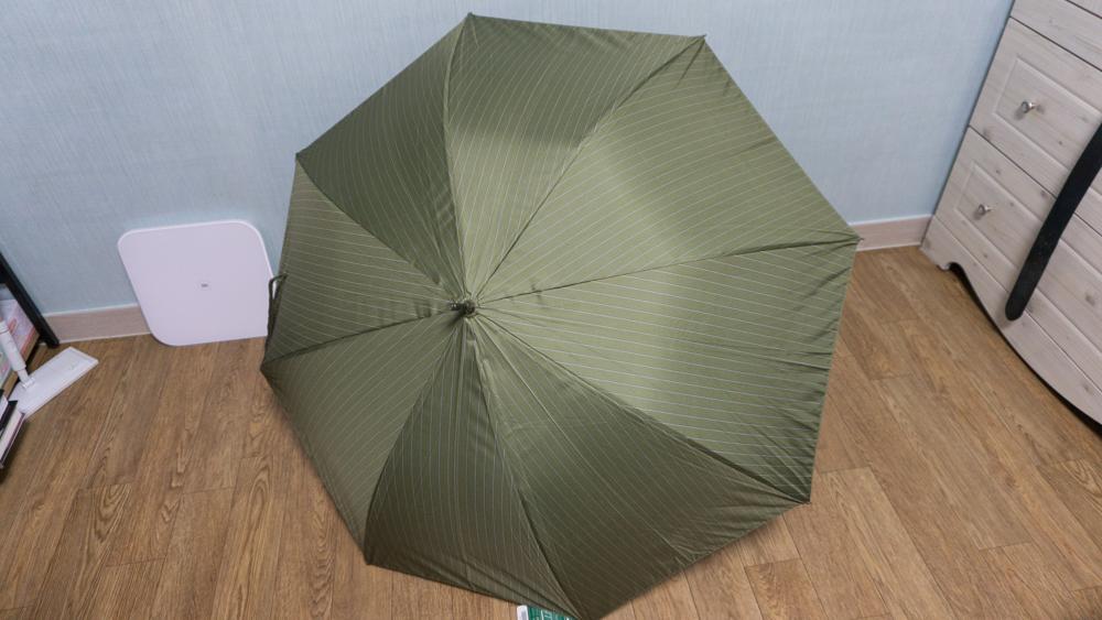 스타벅스 스토리 장우산 펼친 상태 바깥쪽