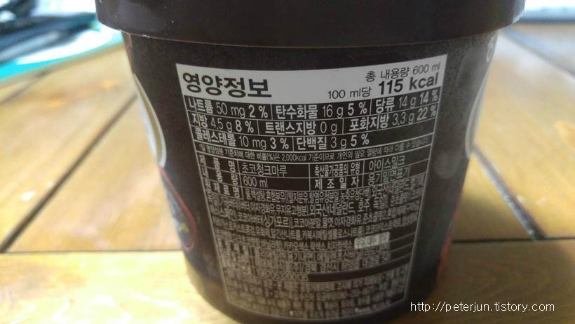 초코마루 영양정보
