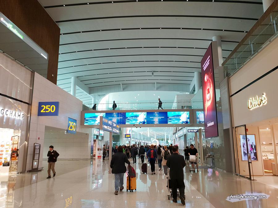 인천공항 제2터미널 면세구역 둘러보기