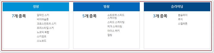 2018 평창 동계올림픽대회 경기종목