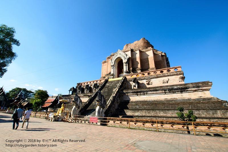 태국 치앙마이 여행 / 웅장한 불탑이 인상적인 '왓 체디 루앙'(왓 째디 루앙)
