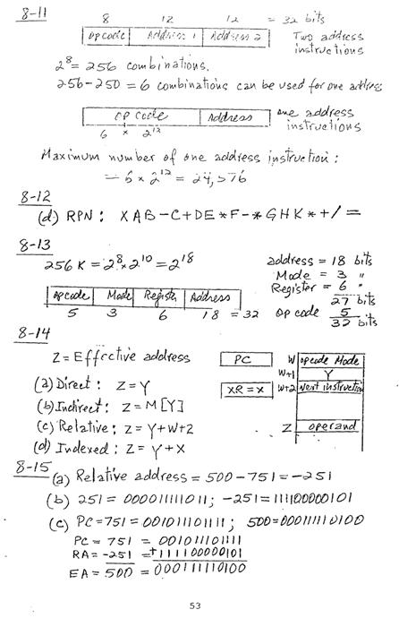 컴퓨터구조 연습문제, 모리스 마노 챕터8 53