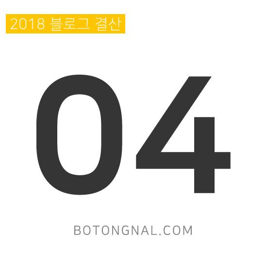 2018년 04월 보통날(botongnal.com) 블로그 / 애드센스 결산