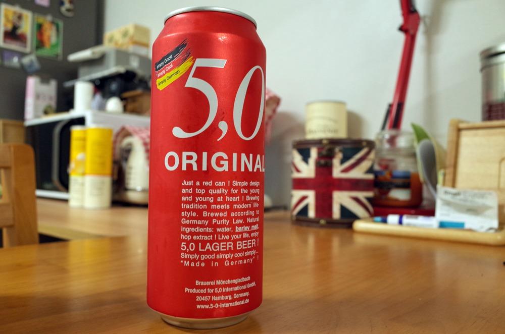 저렴한 독일 맥주 5,0 ORIGINAL Lager Beer (5,0 라거비어, 레드캔)