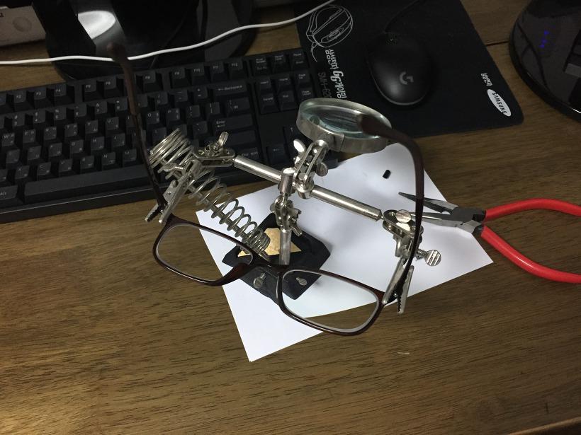 뿔테 안경 강력본드 수리