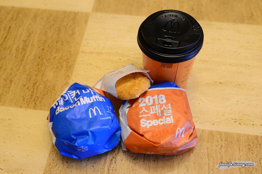 맥도날드 맥모닝 신메뉴 <골든 포테이토 머핀> 먹어봤습니다!
